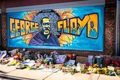 George floyd graffiti mural