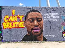 George Floyd I can`t breathe graffiti at Mauerpark Berlin, Germany