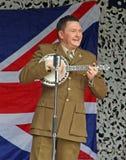George formby tribute playing ukulele Stock Image