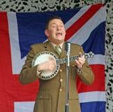 George formby tribute on ukulele Stock Images