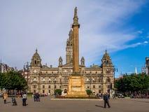 George fyrkant, Glasgow Royaltyfria Foton