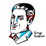 George Gershwin Portrait illustration de vecteur