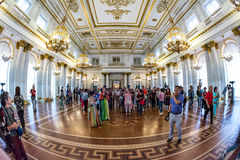 George Great Throne Hall in the State Hermitage Museum Stock Image
