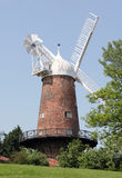 George Greens Windmill. Greens Windmill in Nottingham UK. White sails against a blue sky Royalty Free Stock Images