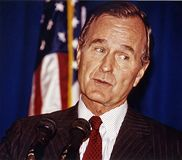 George H.W. Bush royalty free stock images