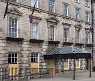 The George Hotel in Huddersfield West Yorkshire, a historic building famous as the birthplace of rugby league football built in. Huddersfield, yest yorkshire royalty free stock images