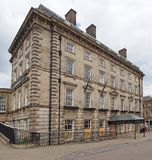 The George Hotel in Huddersfield West Yorkshire, a historic building famous as the birthplace of rugby league football built in. Huddersfield, yest yorkshire stock photography
