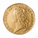 George II Double Guinea obverse Royalty Free Stock Photo