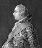 George III. (1738-1820) on engraving from 1830. King of Great Britain and Ireland during 1760-1820. Engraved after a painting by A.Ramsay stock illustration