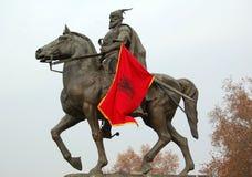 George Kastrioti Skanderbeg. Picture of a statue of George Kastrioti Skanderbeg, in Skopje,Macedonia, december 2013 stock images