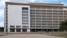 George L Allen Sr Domstolsbyggnad kommersgata, Dallas, Texas royaltyfri fotografi