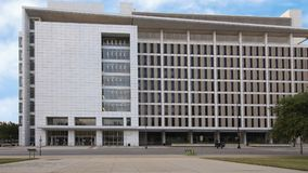 George L Allen Sr Tribunal, rua do comércio, Dallas, Texas fotografia de stock royalty free