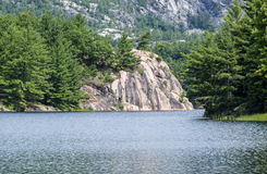 George Lake en parc provincial de Killarney images stock