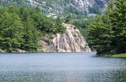 George Lake in het Provinciale Park van Killarney Stock Afbeeldingen