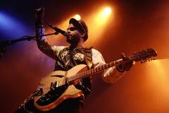 George Lewis Jr, βασικός τραγουδιστής και κιθαρίστας της δίδυμης σκιάς Στοκ εικόνα με δικαίωμα ελεύθερης χρήσης