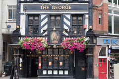 george london pub royaltyfri foto