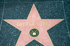 George Lopez's star Royalty Free Stock Photo