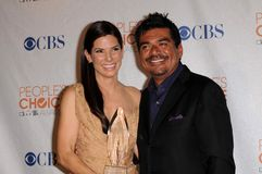 George Lopez,Sandra Bullock Royalty Free Stock Images