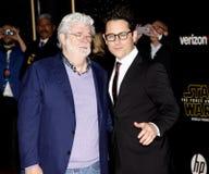George Lucas e J J abrams imagens de stock royalty free