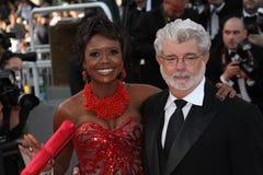 George Lucas en Mellody Hobson Stock Afbeelding