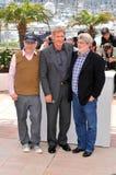 George Lucas, Harrison Ford, Steven Spielberg, os cristais Imagem de Stock Royalty Free