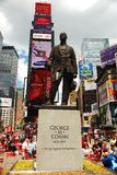 George M Cohan statue in Times Square. A statue of George M Cohan who wrote Give my Regards to Broadway, stands in Times Square stock photography