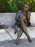 George Mason Statue in Washington, D.C. Public art in Rock Creek Park, U.S.A. capital Stock Photos