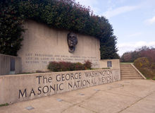 george masonic minnes- nationella washington Arkivbild