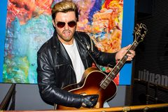 George Michael, wax figure, Madame Tussaud`s Amsterdam royalty free stock photography