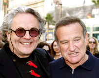 George Miller and Robin Williams Stock Photo