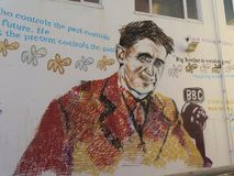 George Orwell Wall photo libre de droits