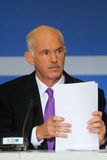 George Papandreou Photo stock