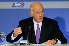 George Papandreou Photos libres de droits