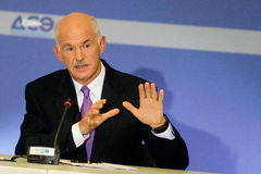George Papandreou Image libre de droits