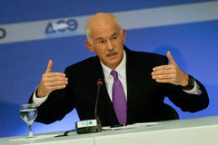 George Papandreou Photo libre de droits