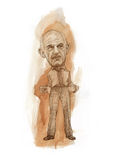 George Papandreou empty pockets caricature Stock Photography
