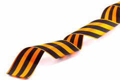 George ribbon isolated on white Stock Photography