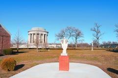 George Rogers Clark parkerar nationellt historiskt i Vincennes Indiana royaltyfri bild