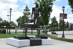 George Rogers Statue fuori di Williams Brice Stadium, Colombia, Sc Immagine Stock