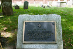 George Ross gravestone in Christ Church Burial Ground, Philadelphia, Pennsylvania, a signer of the Declaration of Independence Stock Image