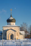 George`s Church in the winter in Yuryev-Polsky. St George`s Church in Yuriev-Polsky winter in the snow stock photography