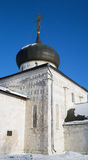 George`s Church in the winter in Yuryev-Polsky. St George`s Church in Yuriev-Polsky winter in the snow stock photos
