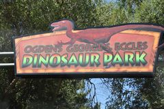 George S. Eccles Dinosaur Park in Ogden, Utah Royalty Free Stock Photos