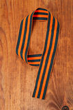 George's Ribbon on a wooden background in a number 9 Stock Photography