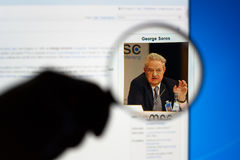 George Soros royalty free stock image