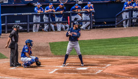 George Spring Houston Astros 2017. Spring training 2017 in Florida against the New York Mets, George Springer Up to bat royalty free stock image