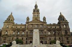 George Square en Glasgow City Chambers stock fotografie