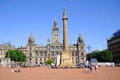 George Square, Glasgow, Regno Unito Fotografia Stock Libera da Diritti