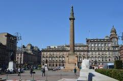 George Square, Glasgow, Schotland op een zonnige de Lentedag Royalty-vrije Stock Afbeelding