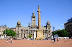 George Square Glasgow, UK Royaltyfri Fotografi